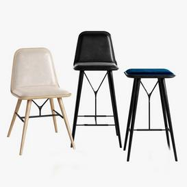 Fredericia Spine Stool Barstool Chair 3d model Download  Buy 3dbrute