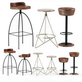 Industrial Bar Stool 01 3d model Download  Buy 3dbrute