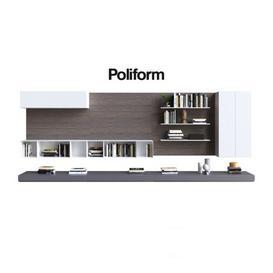 Varenna Poliform DAY SYSTEM 3d model Download  Buy 3dbrute