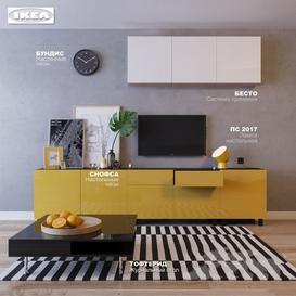 Gostinaya IKEA 3d model Download  Buy 3dbrute