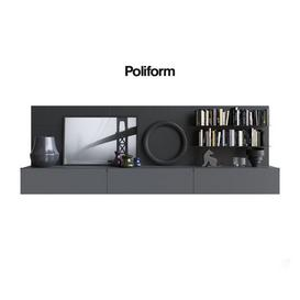Poliform QUID 7 bookcases 3d model Download  Buy 3dbrute
