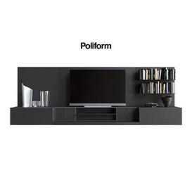 Poliform QUID 11 bookcases 3d model Download  Buy 3dbrute