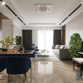 Modern living room Scene corona render (2)