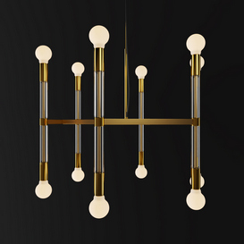 Acrylic Framework Chandelier   Round 3d model Download  Buy 3dbrute