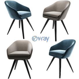 Aleria Upholstered Steel Swivel Chair 3d model Download  Buy 3dbrute