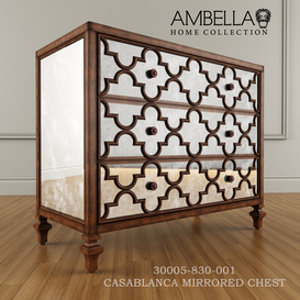 Ambella Home CASABLANCA MIRRORED CHEST 3d model Download  Buy 3dbrute