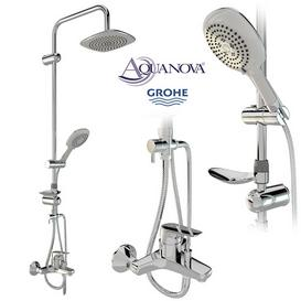 AQUANOVA shower set and GROHE mixer 3d model Download  Buy 3dbrute