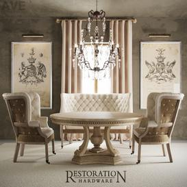 AVE Restoration Hardware English 19thc 3d model Download  Buy 3dbrute