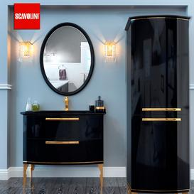 Bathroom furniture Scavolini Black 3d model Download  Buy 3dbrute