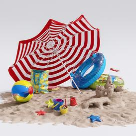Beach Decor 3d model Download  Buy 3dbrute