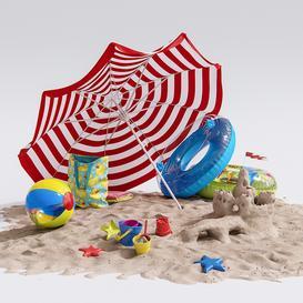 Beach Decor 3d model Download  Buy 3dbrute