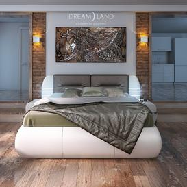 Bed Santa Cruz - Bench Crete 100 3d model Download  Buy 3dbrute