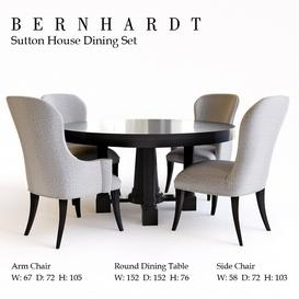 Bernhardt Sutton House Dining Set 3d model Download  Buy 3dbrute