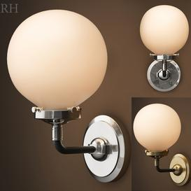 BISTRO GLOBE CLEAR GLASS SINGLE SCONCE 3d model Download  Buy 3dbrute