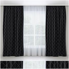 Black Curtains 3d model Download  Buy 3dbrute