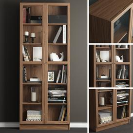 Bookcase Ikea Billy Oxberg 3d model Download  Buy 3dbrute