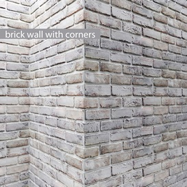 Brick wall with corners 3d model Download  Buy 3dbrute