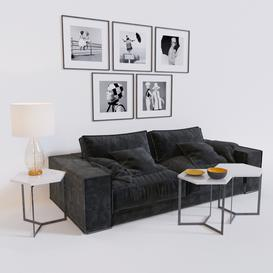 Budapest Soft Sofa 3d model Download  Buy 3dbrute