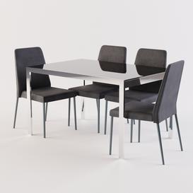 Calligaris Chair CLUB  KEY Table 3d model Download  Buy 3dbrute