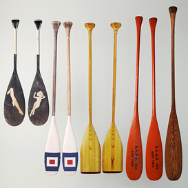 Canoe Paddles 3d model Download  Buy 3dbrute