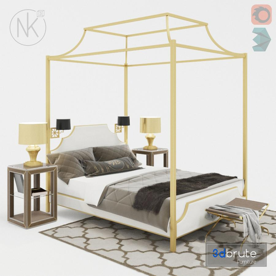 - Canopy Bed 3d Model Buy Download 3dbrute