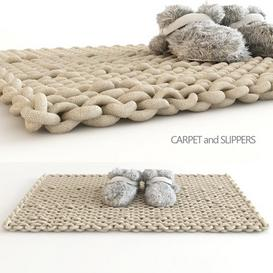 carpet and slippers 3d model Download  Buy 3dbrute