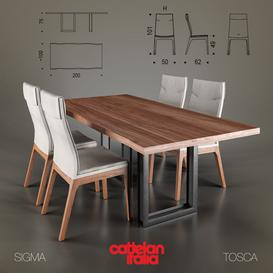 Cattelan Italia Tosca & Sigma 3d model Download  Buy 3dbrute