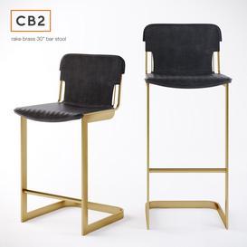 CB2  Rake Brass bar stool 3d model Download  Buy 3dbrute