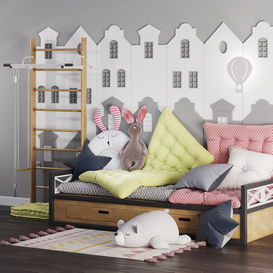 children room set 2 3d model Download  Buy 3dbrute