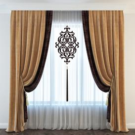 Classic curtain 3d model Download  Buy 3dbrute