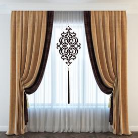 Classic curtain 3d model Download  Buy 3dbrute