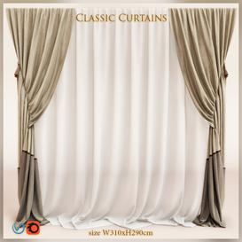 Classic curtain65 3d model Download  Buy 3dbrute