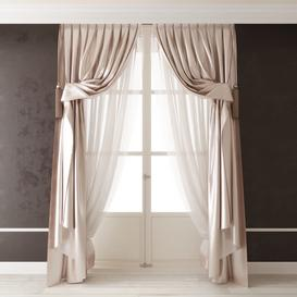 Classic curtains44 3d model Download  Buy 3dbrute
