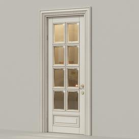 Classic door  glass 3d model Download  Buy 3dbrute