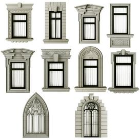 Classic frame window 3d model Download  Buy 3dbrute