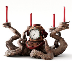 Clock and candlestick Octopus 3d model Download  Buy 3dbrute