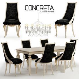 Concreta cucina  Arrogance Impero dinner set 3d model Download  Buy 3dbrute
