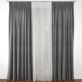 Curtain 12 3d model Download  Buy 3dbrute