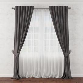 Curtain 17 3d model Download  Buy 3dbrute