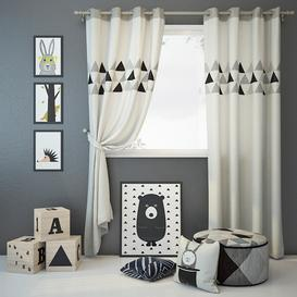 Curtain and decor 6 3d model Download  Buy 3dbrute