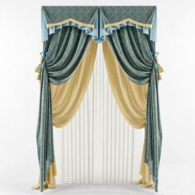 Curtains 35 3d model Download  Buy 3dbrute