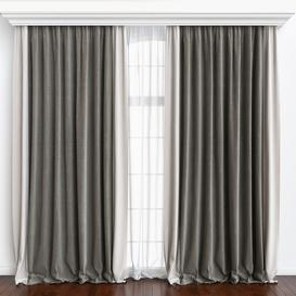 Curtains-31 3d model Download  Buy 3dbrute