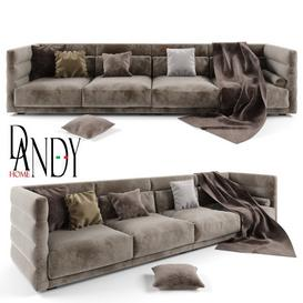 Dandy home Wafer sofa 3d model Download  Buy 3dbrute