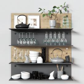 Decorative-Set-for-Kitchen-1 3d model Download  Buy 3dbrute