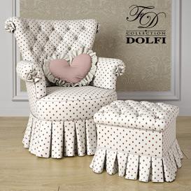 Dolfi Antony poltrona armchair 3d model Download  Buy 3dbrute
