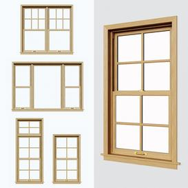 Double hung Sliding sash 3d model Download  Buy 3dbrute