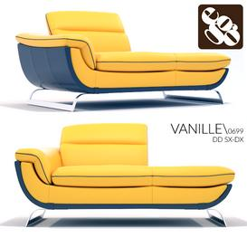 Egoitaliano Vanille 0699 Divano Dormosa SX-DX 3d model Download  Buy 3dbrute
