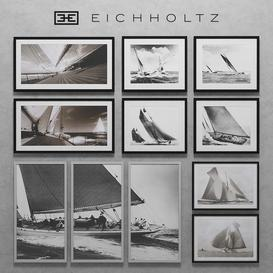 Eichholtz Set of Boat Prints 3d model Download  Buy 3dbrute