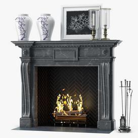 Fireplace F29 3d model Download  Buy 3dbrute