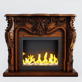 Fireplace F30 3d model Download  Buy 3dbrute